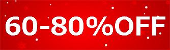 60-80%OFF